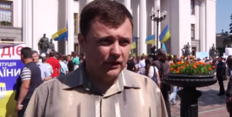 Переселенцы митингуют за свои избирательные права и выборы в свободном Донбассе