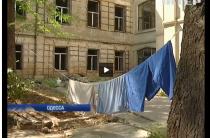 В Одессе переселенцы от отчаяния заняли аварийное здание (видео)